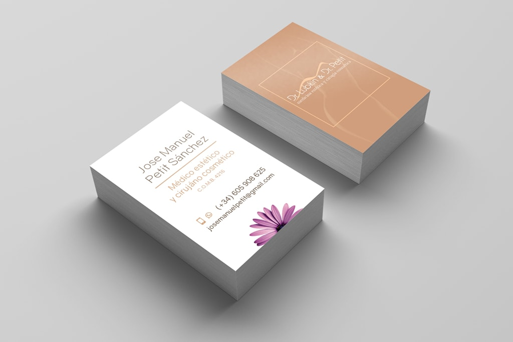 Business card cosmetic surgery